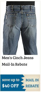 Mens Cinch Jeans Mail In Rebate