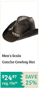 Mens Scala Concho Cowboy Hat on Sale