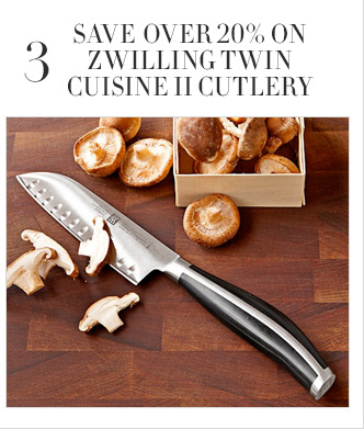 3 - SAVE OVER 20% ON ZWILLING TWIN CUISINE II CUTLERY