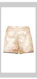 Pink Metallic Jacquard Shorts