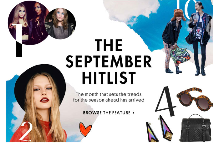 The September Hitlist - Browse the Feature