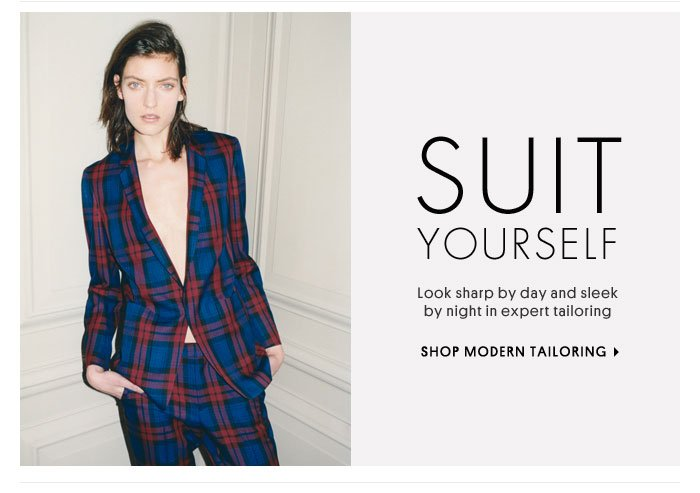 Suit Yourself - Shop Modern Tailoring