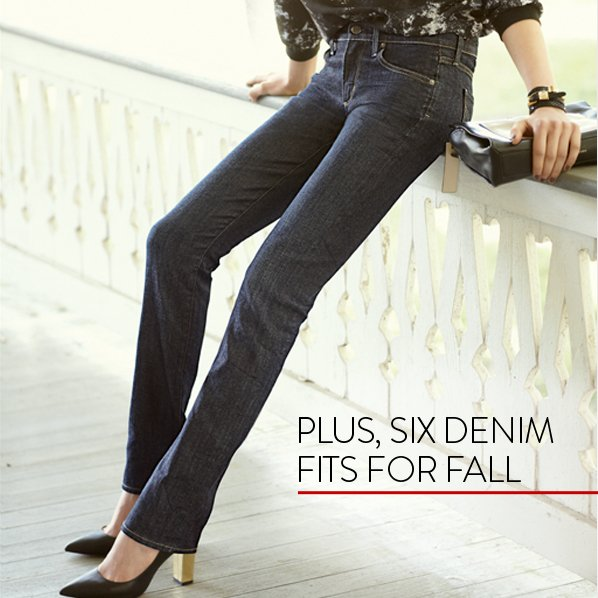 PLUS, SIX DENIM FITS FOR FALL