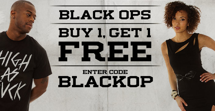 All Black. Buy 1, Get 1 Free