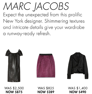 MARC JACOBS UP TO 65% OFF