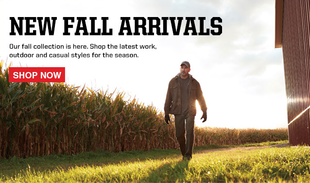 New Fall Arrivals. Shop the latest work, outdoor, and casual styles for the season.