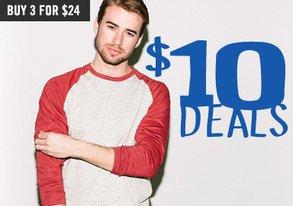 Shop $10 Deals: Tanks, Ts & Long Sleeves