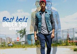 Shop Best Bets Under $40: Apparel