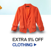 EXTRA 5% OFF CLOTHING