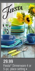 29.99 Fiesta® Dinnerware 4 or 5-pc. place setting.