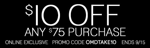 Take $10 off any online purchase of $75 or more