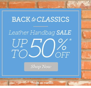 Leather Handbag Sale up to 50% Off. Shop Now >