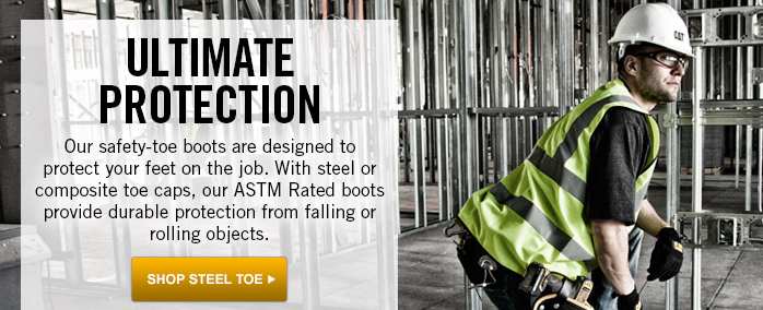 ASTM Rated Steel Toes for Ultimate Protection