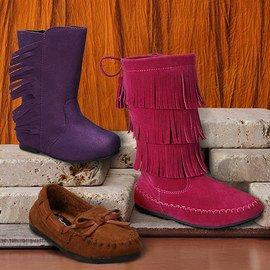 On the Fringe: Girls' Shoes