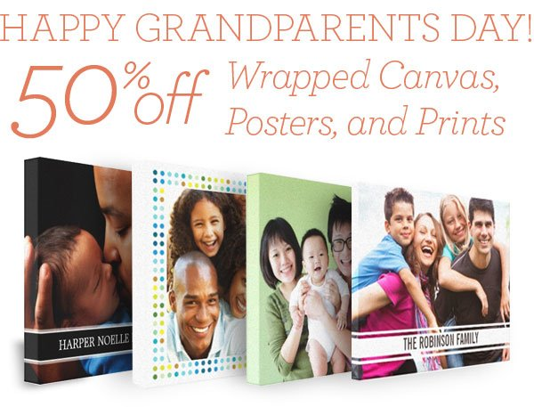 Save 50% off Wrapped Canvas, Posters and Prints!