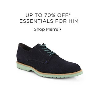 Up To 70% Off* Essentials For Him