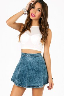 SELINA MESH CROP TOP 22