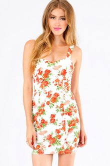 FUN & ROSES BODYCON DRESS 35