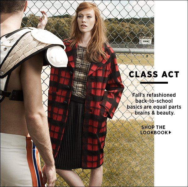 Fall's refashioned back-to-school basics are equal parts brains & beauty. >>