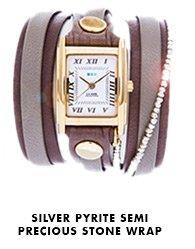 Silver Pyrite Semi Precious Stone Wrap