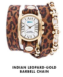 Indian Leopard-Gold Barbell Chain
