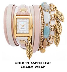 Golden Aspen Leaf Charm Wrap