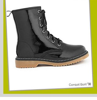 Combat Boot - $30 - Fall's HOTTEST Shoes! Starting at $14.80! SHOP NOW!