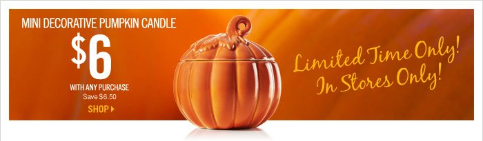 $6 Mini Decorative Pumpkin Candle