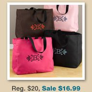 Personalized  Florentine Tote Bags
