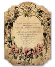 Vintage Love  Affair Invitation