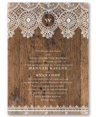 Barnwood Lace  Invitation