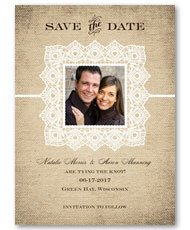 Country Lace  Save-the-Date