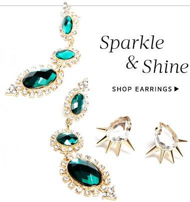 Sparkle & Shine. Shop Earrings
