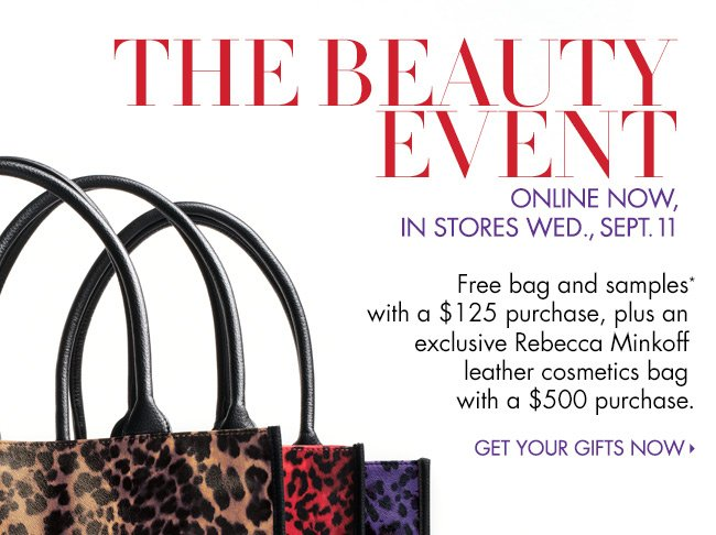 Beauty Event: Free Bag + Samples