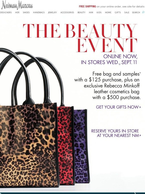 Neiman Marcus: Beauty Event: Free Bag + Samples! | Milled