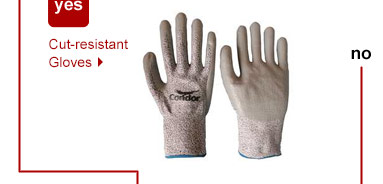 Want protection from utility knives and blades? Cut-resistant Gloves.