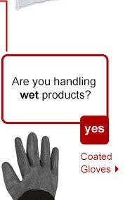 Are you handling wet products? Coated Gloves.