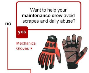 Want to help your maintenance crew avoid scrapes and daily abuse? Mechanics Gloves.