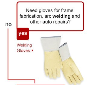 Need gloves for frame fabrication, arc welding and other auto repairs? Welding Gloves.
