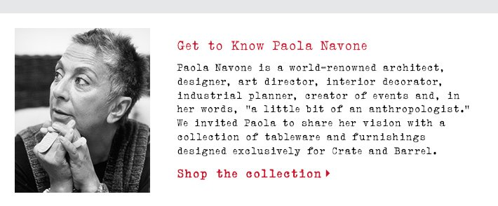 Get to Know Paola Navone