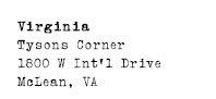 Virginia - Tysons Corner