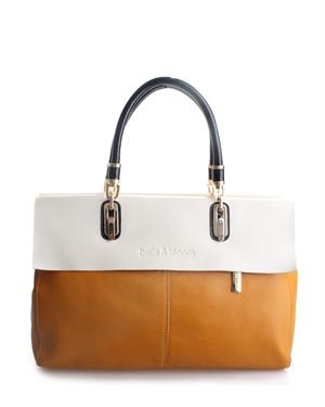 Belle & Bloom Leather Two-tone Satchel