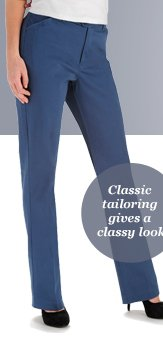 Classic tailoring gives a classy look