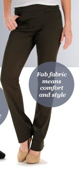 Fab fabric means comfort and style