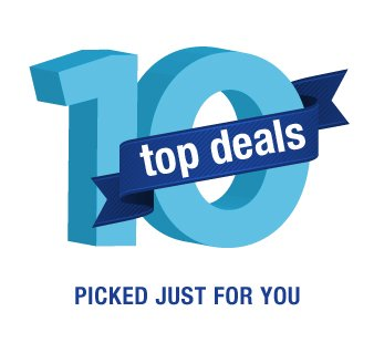 Top 10 Deals | Picked just for you