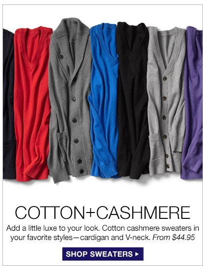 COTTON+CASHMERE | SHOP SWEATERS