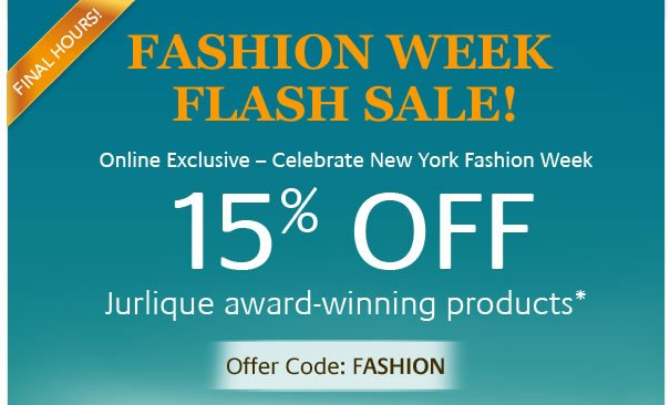 Fashion Week Flash Sale