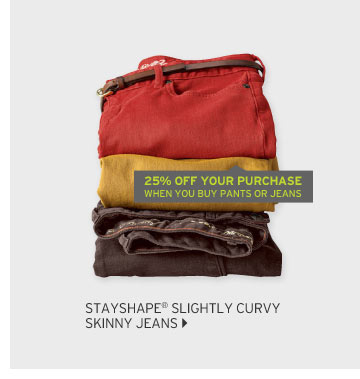 StayShape Slightly Curvy Skinny Jeans