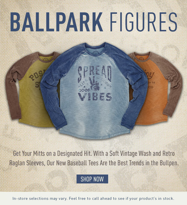 Get Your Mitts on a Designatede Hits. Shop our Baseball Inspired Tees