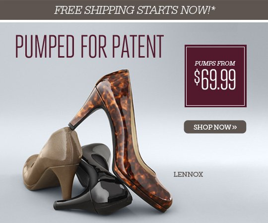 FREE SHIPPING STARTS NOW!*